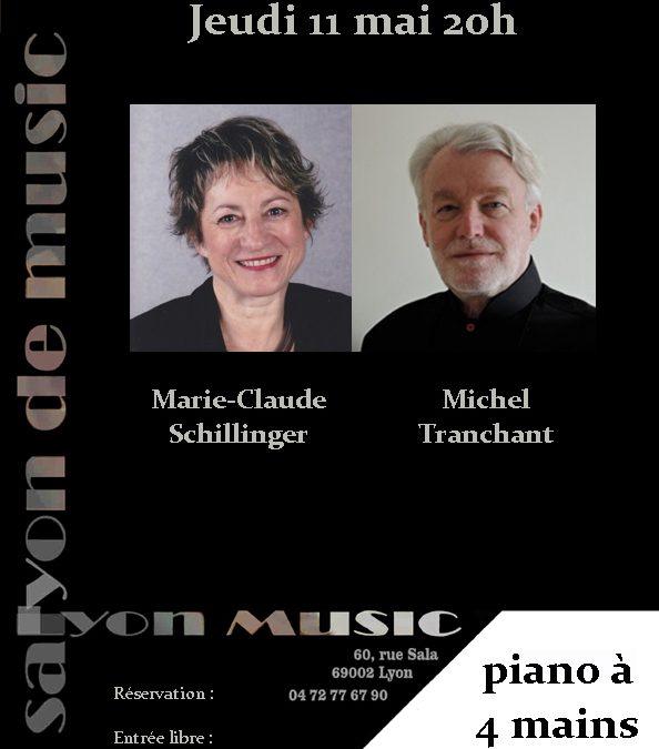 jeudi 11 mai 20h Marie-Claude Schillinger et Michel Tranchant, piano à 4 mains