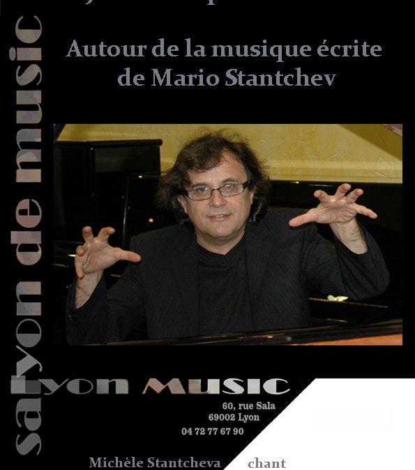 Jeudi 28 septembre 20h Mario Stantchev Autour de la musique de . . .