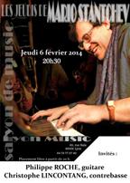 Jeudi 13 novembre 20h30 Mario Stantchev en Jam Session Trio