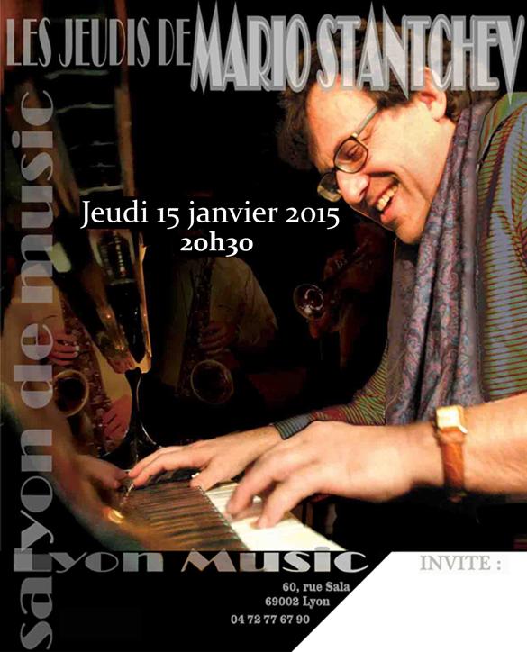 jeudi 15 janvier Mario Stantchev Quartet
