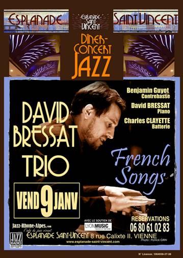 Vendredi 9 janvier David Bressat Trio en concert