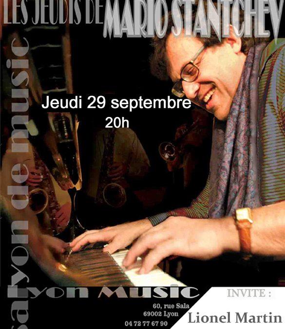 Jeudi 29 septembre Mario Stantchev et Lionel Martin en concert