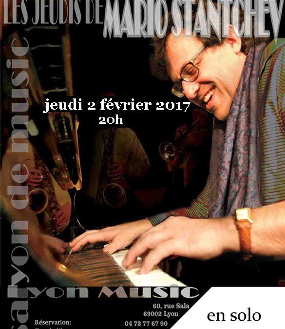 Jeudi 2 février à 20h Mario STANTCHEV en solo