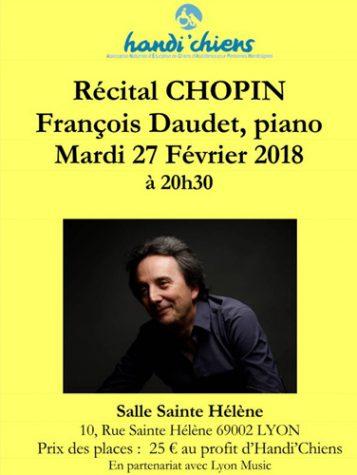 Mardi 27 février 20h30 François DAUDET en récital
