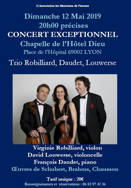 Dimanche 12 mai 20h Trio Robillard, Daudet, Louwerse